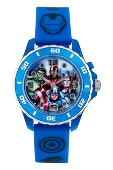 Marvel Avengers Time Teacher Kids Silicon Strap Dial Watch