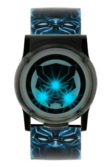 Marvel Panther Kids Plastic Strap Lid Watch