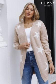 Lipsy Star Print Knitted Cardigan