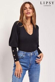 Lipsy Knitted Volume Sleeve Jumper
