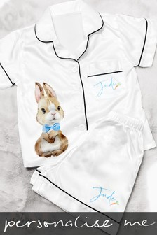 Personalised Short Bunny PJ's by Penelope May