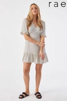Rae Poppy Ruffle Hem Mini Tea Dress