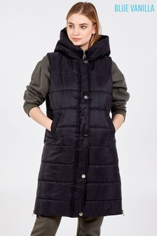 Blue Vanilla Zip Front Hooded Vest