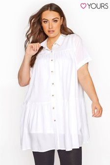 Yours Curve Tiered Smock Tunic Blouse