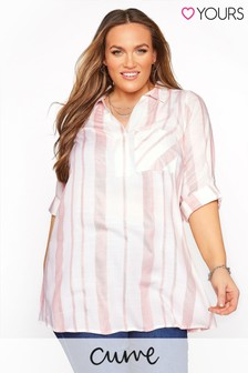 Yours Curve Stripe Overhead Shirt