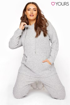 Yours Soft Hooded Co-ord Lounge Hoodie