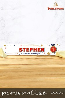 Personalised White Chocolate Toblerone 360g Everyday Hero by Yoodoo