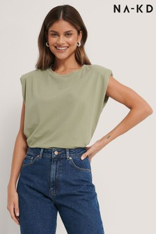 NA-KD Shoulder Pad Top