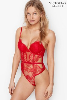 Victoria's Secret Bombshell Add-2-Cups Lace Teddy