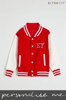 Personalised Kids Monogrammed Baseball Jacket by Alphabet