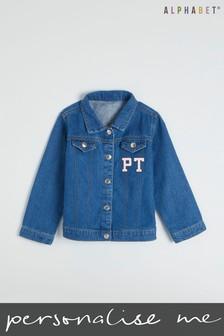 Personalised Kids Monogrammed Denim Jacket by Alphabet