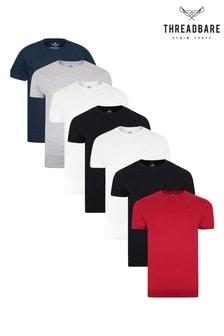 Threadbare 7 Pack Basic Cotton T Shirts