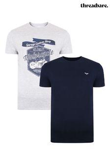 Threadbare 2 Pack Jesse Cotton T Shirts