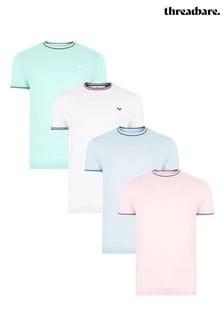Threadbare 4 Pack Warrick Cotton T Shirts