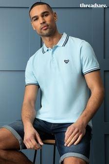 Threadbare Zev Cotton Pique Polo Shirt
