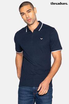 Threadbare Ward Cotton Ribbed Polo Shirt