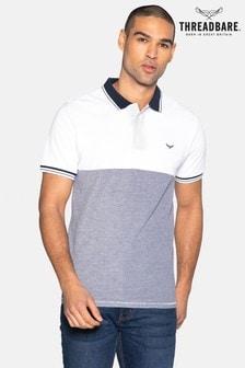Threadbare Zino Cotton Two Tone Pique Polo Shirt