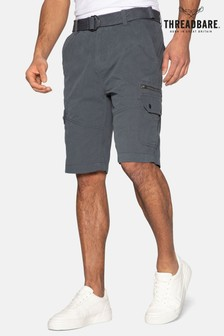 Threadbare Propane Belted Cotton Cargo Shorts