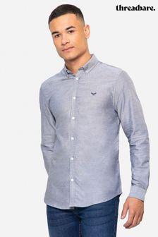 Threadbare Beacon Cotton Oxford Long Sleeve Shirt