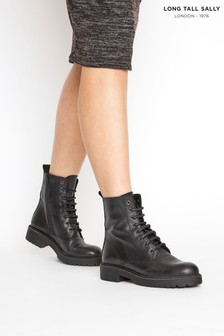 Long Tall Sally Lace Up Leather Boots