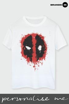 Mens Deadpool Splat Face T-Shirt by Marvel