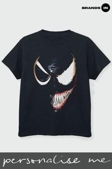 Boys Venom Split Face T-Shirt by Marvel