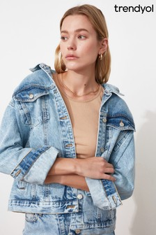 Trendyol Multi Boyfriend Denim Jacket