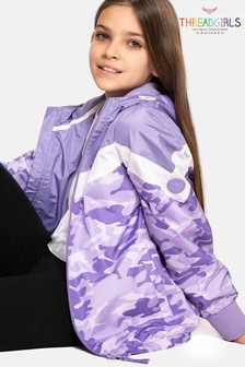 Threadgirls Emma Camo Colourblock Hooded Jacket