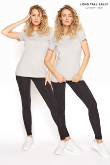 Long Tall Sally Two Pack Cotton Leggings