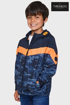 Threadboys Cecil Camo Colourblock Hooded Jacket