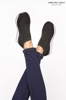 Long Tall Sally Sock Style Diamante Trainers