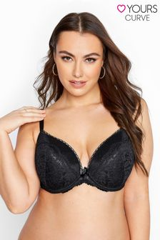 Yours Lace and Fishnet Plunge Bra