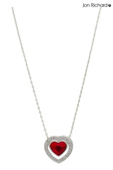 Jon Richard Plated Made with Swarovski Red Dancing Heart Necklace