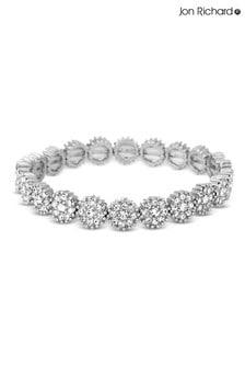 Jon Richard Silver Plated Crystal Circle Stretch Bracelet