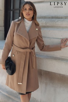 Lipsy Wool Blend Military Button Coat