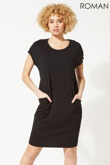 Roman Relaxed Fit Crepe Dress