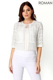 Roman Floral Lace Border Jacket