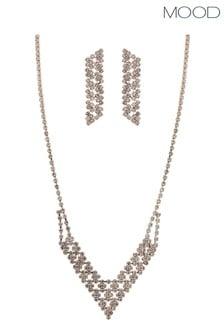 Mood Crystal Diamante V Shape Set - Gift Boxed