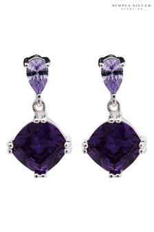 Simply Silver Simply Silver Sterling Silver 925 Cubic Zirconia Earrings