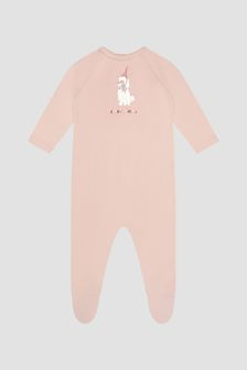 Bonpoint Baby Girls Pink Sleepsuit