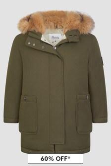 Bonpoint Girls Khaki Jacket