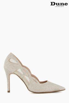 Dune London Metallic Bristal Cut Out Court Shoes