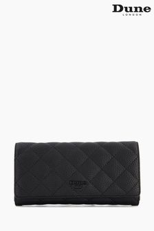 Dune London Black Kuprees Quilted Foldover Purse