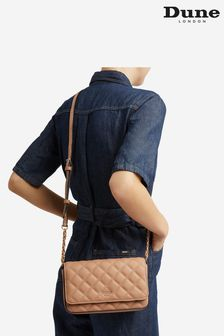 Dune London Natural Dupree Quilted Cross-Body Bag
