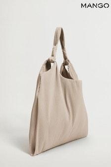 Mango Pleated Bucket Bag