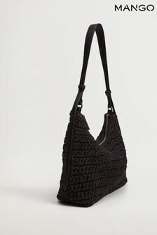 Mango Raffia Braided Bag