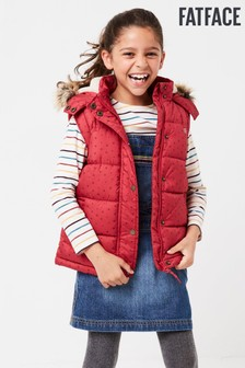 FatFace Pink Ellie Printed Gilet