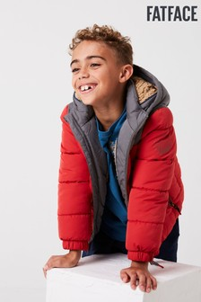 FatFace Red Ellis Padded Jacket