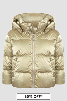 Bonpoint Girls White/Gold Jacket