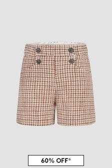 Bonpoint Girls Beige Shorts